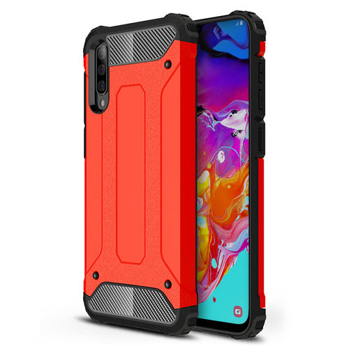 Military Defender Tough Shockproof Case for Samsung Galaxy A70 - Red